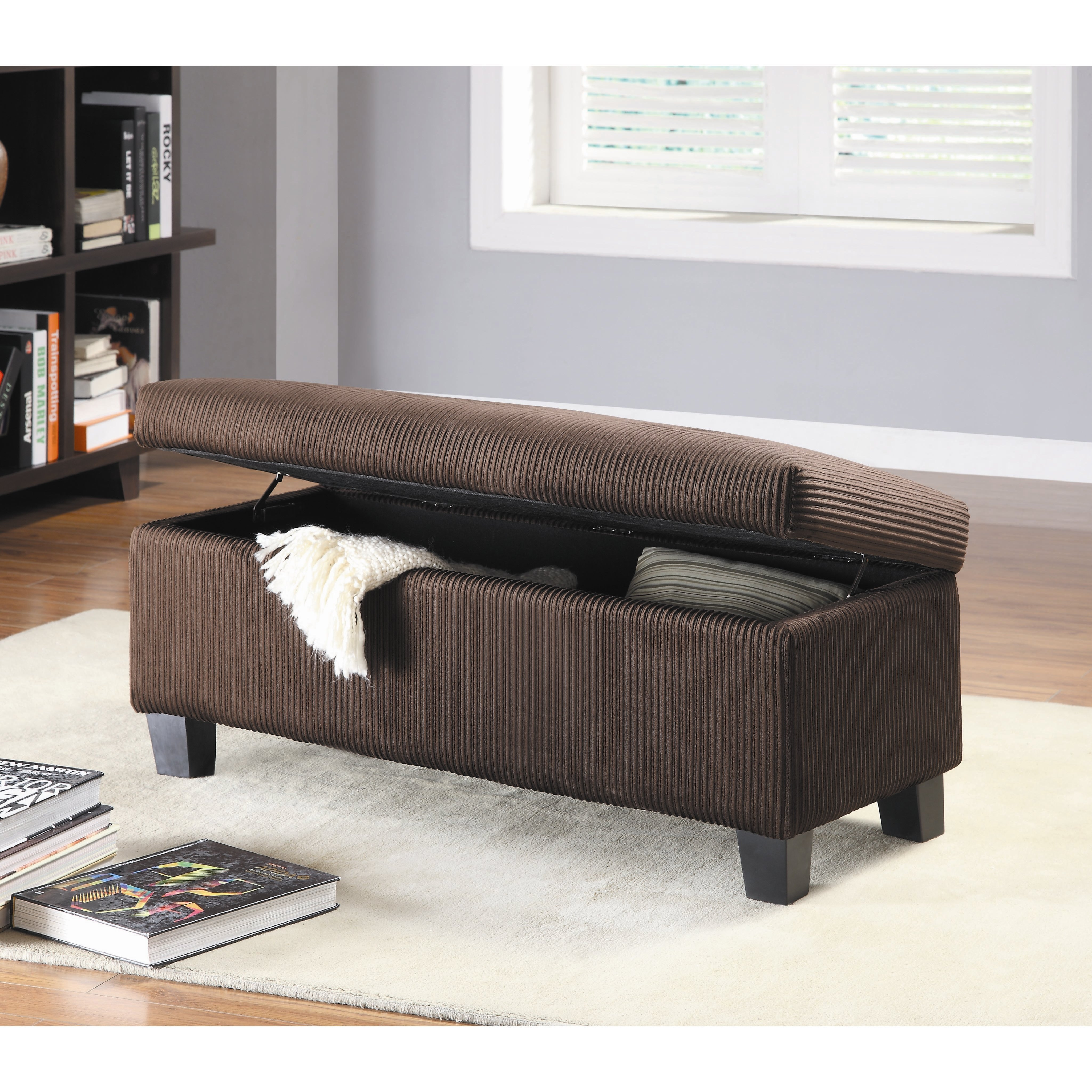 Best Woodhaven Hill Clair New Fabric Bedroom Storage Ottoman Reviews Wayfair With Pictures