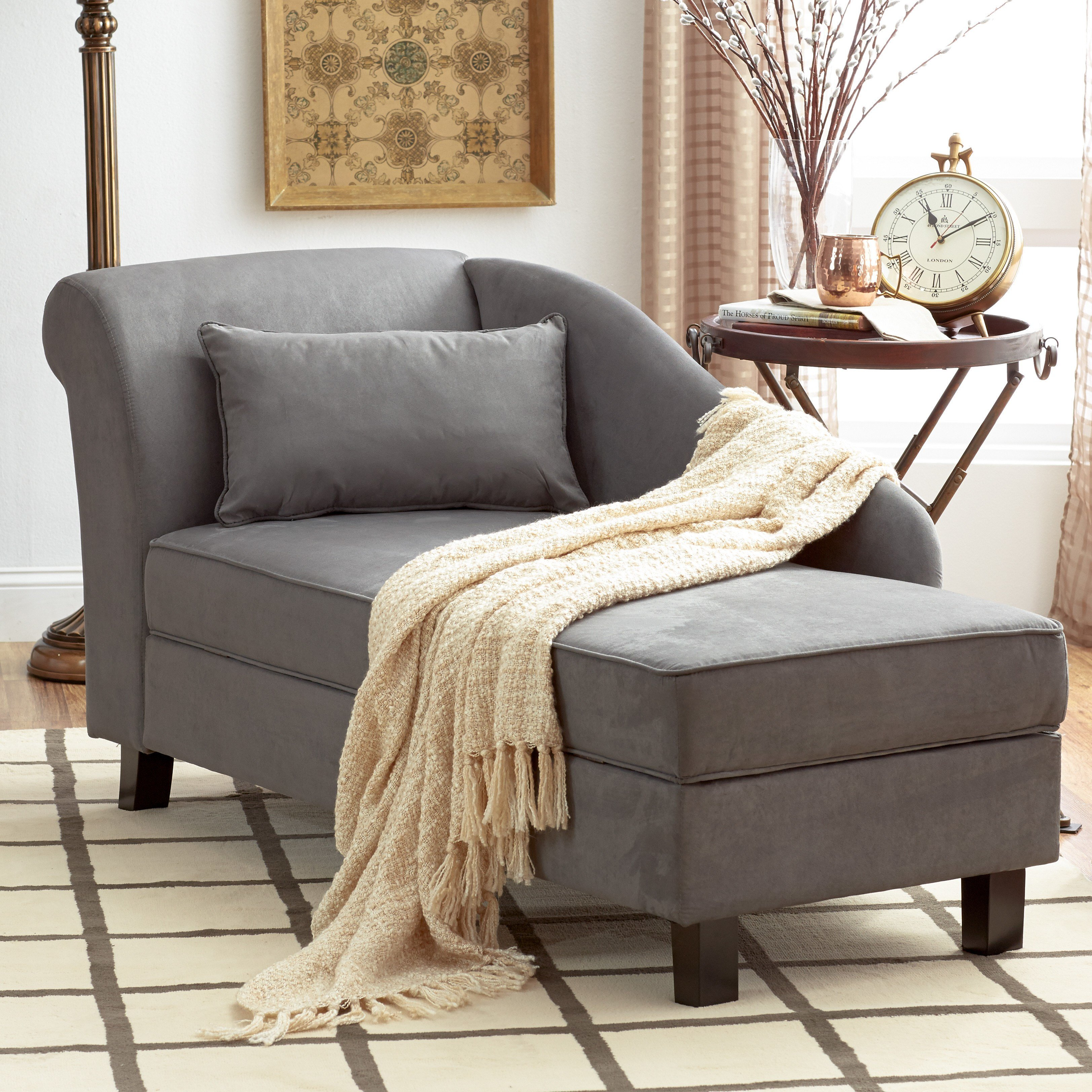 Best Three Posts Verona Storage Chaise Lounge Reviews Wayfair With Pictures