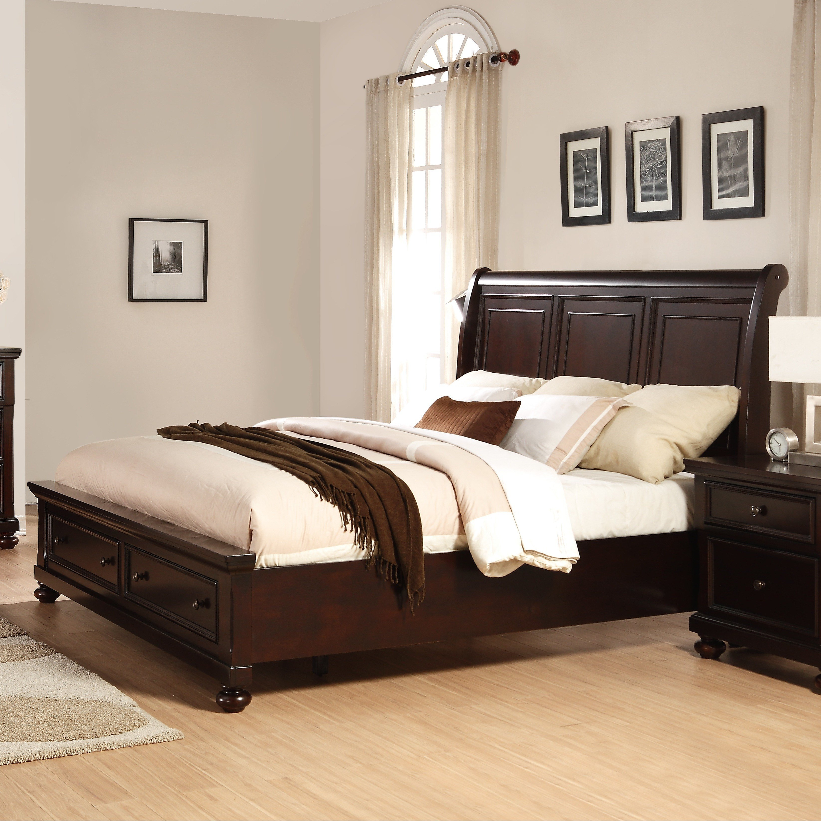 Best Roundhill Furniture Brishland Panel 5 Piece Bedroom Set Wayfair With Pictures
