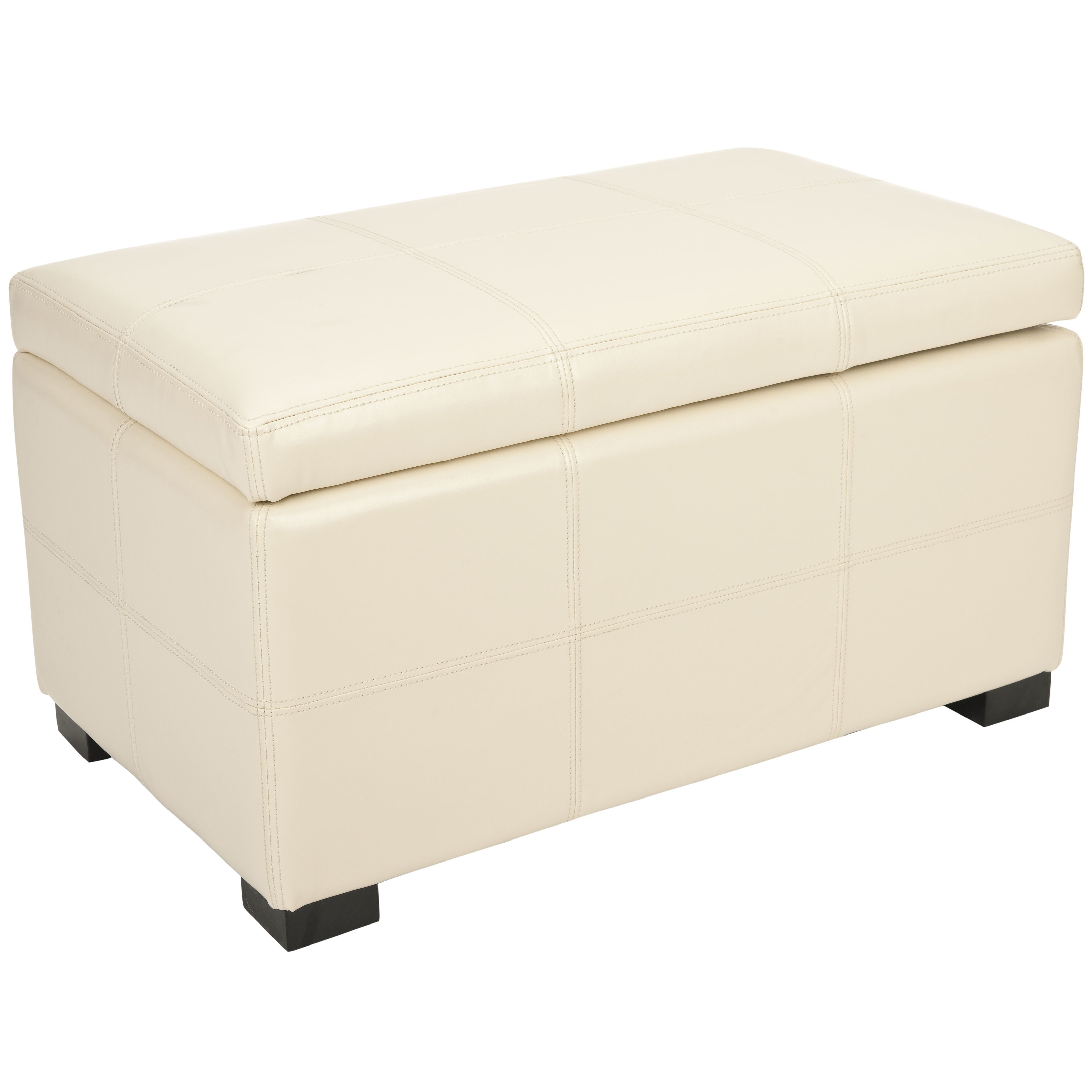 Best Safavieh Lucas Leather Bedroom Storage Ottoman Reviews With Pictures