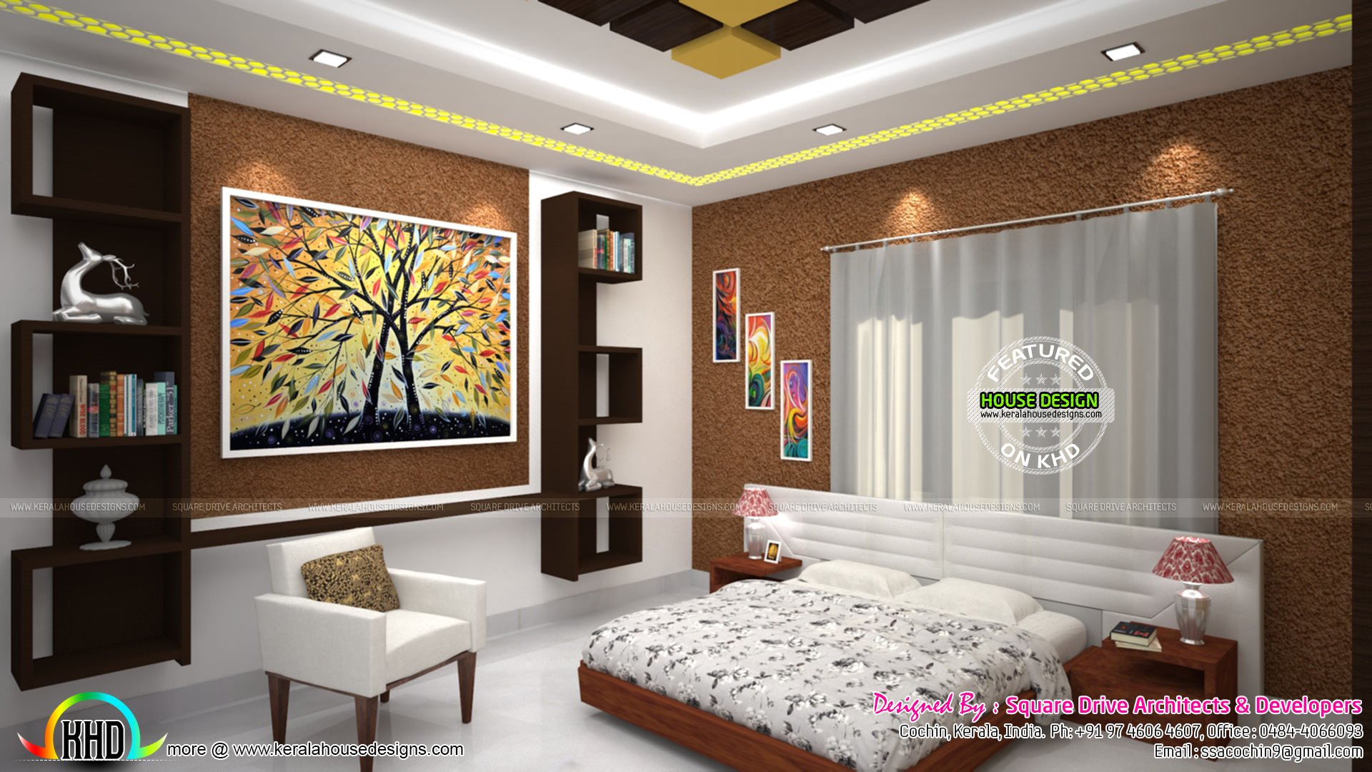 Best Master Bedroom Living And Wardrobe Designs Kerala Home With Pictures