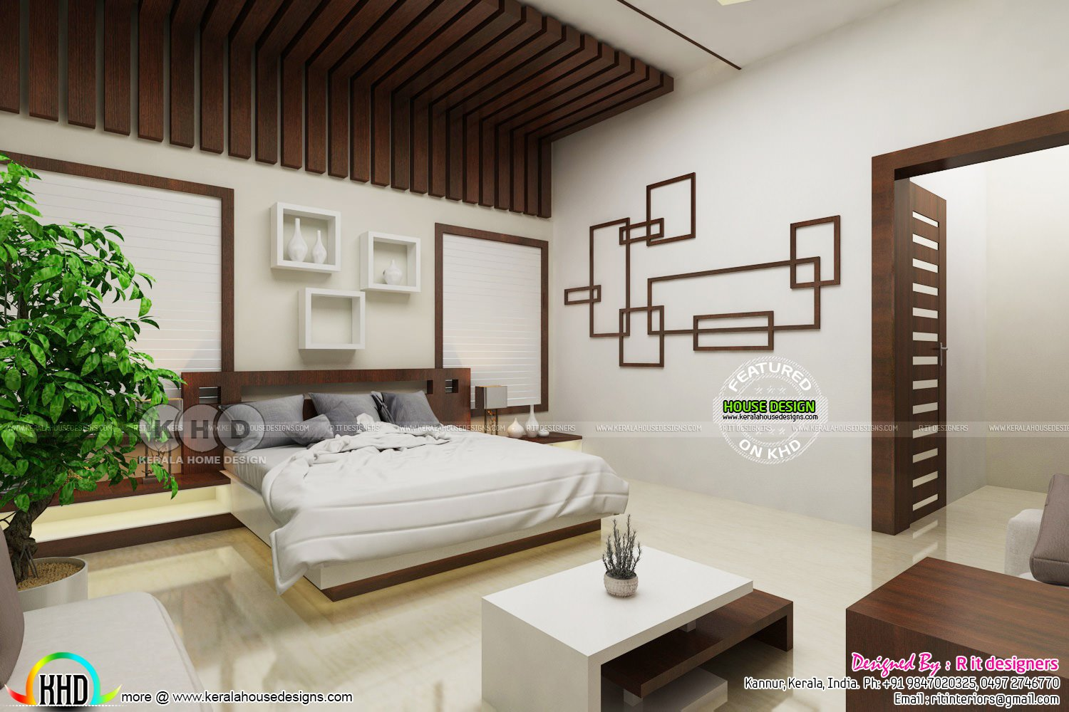 Best Modern Master Bedroom With False Ceiling Design Kerala With Pictures