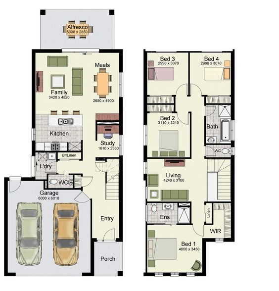 Best Duplex Small House Floor Plans With 3 Or 4 Bedrooms 1 With Pictures