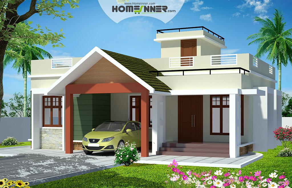 Best 993 Sqft 2 Bedroom House Plans In Kerala With Pictures