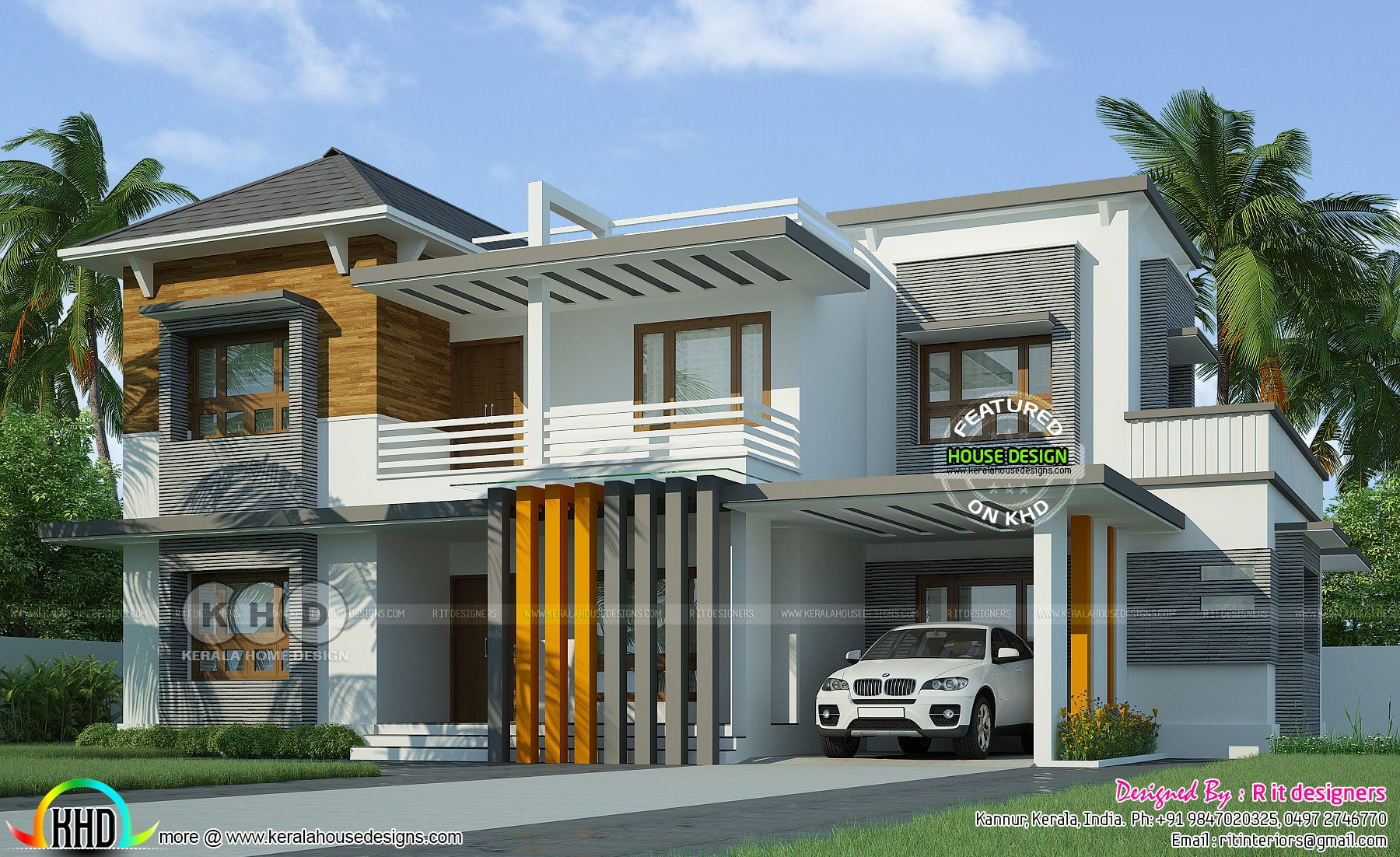 Best Contemporary 4 Bedroom Grand House Kerala Home Design With Pictures