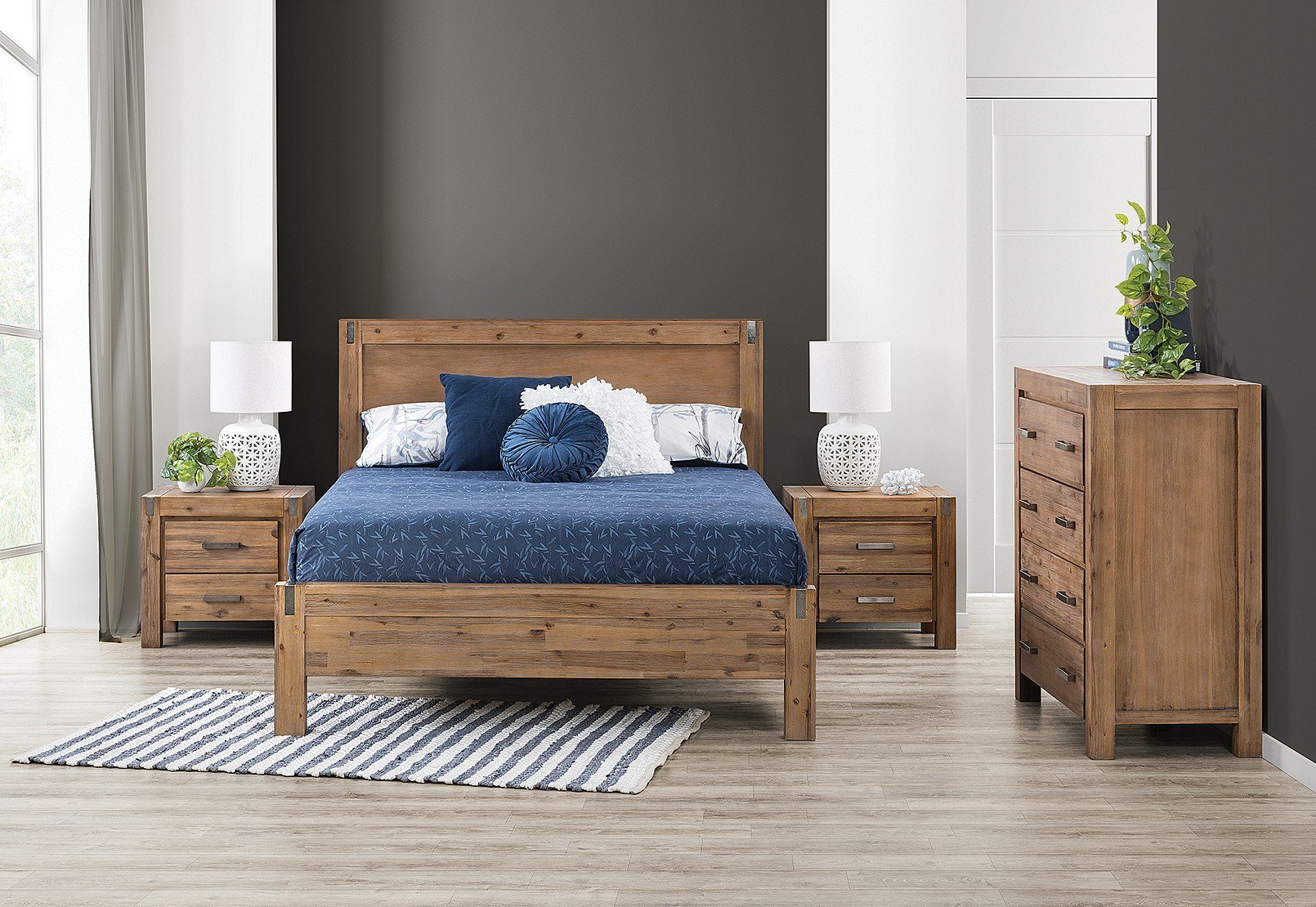 Best Silverwood 4 Piece Queen Tall Chest Bedroom Suite Amart With Pictures