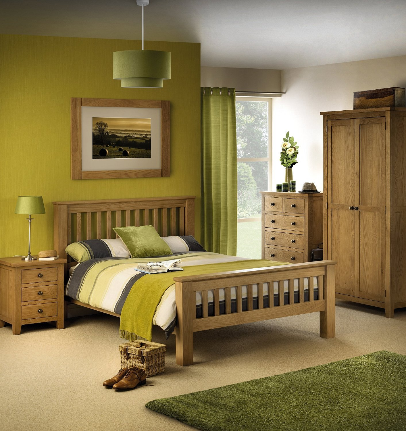 Best Dublin Solid Waxed Oak Bedroom Furniture Thanet Beds With Pictures