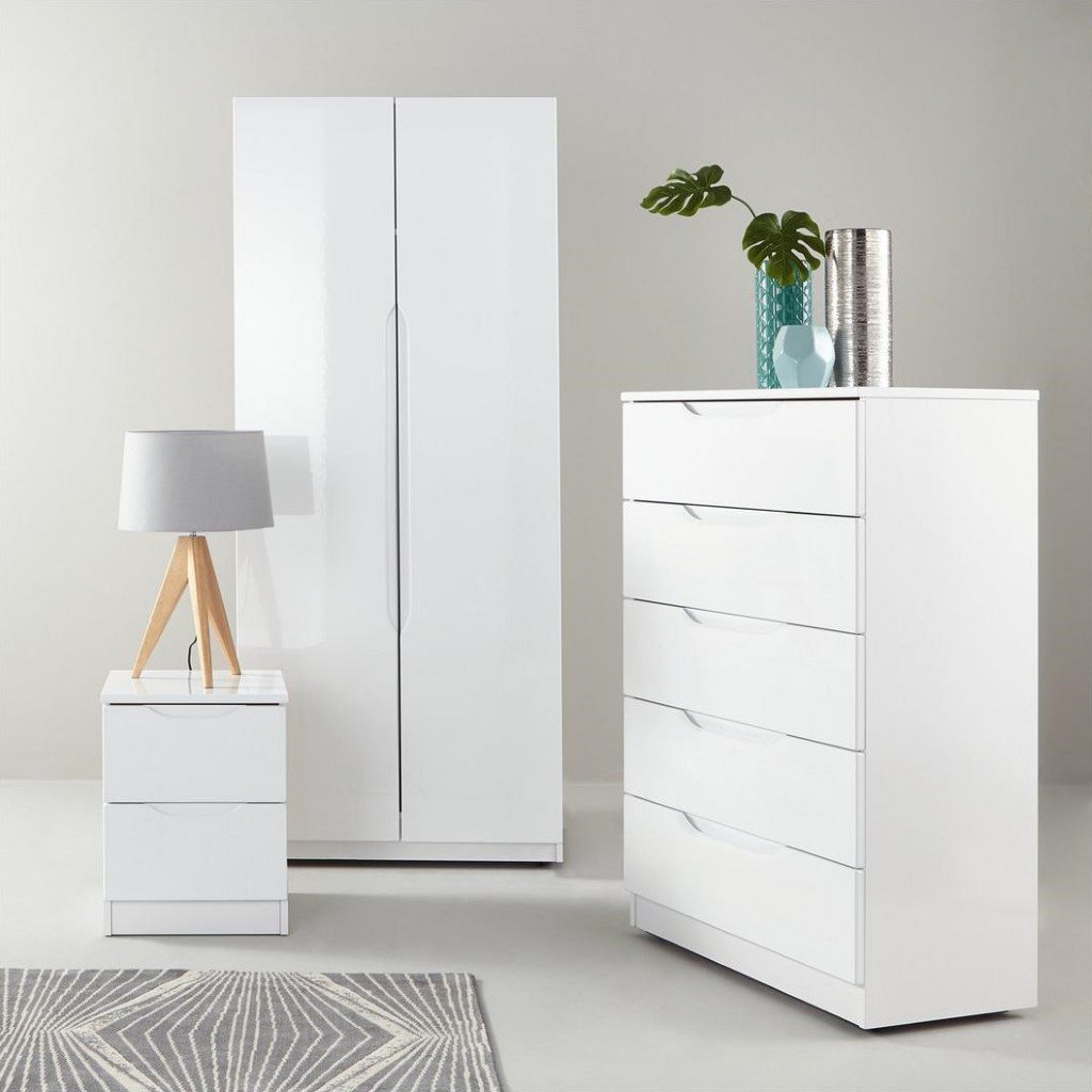 Best Monaco White Grey Black High Gloss Bedroom Furniture With Pictures