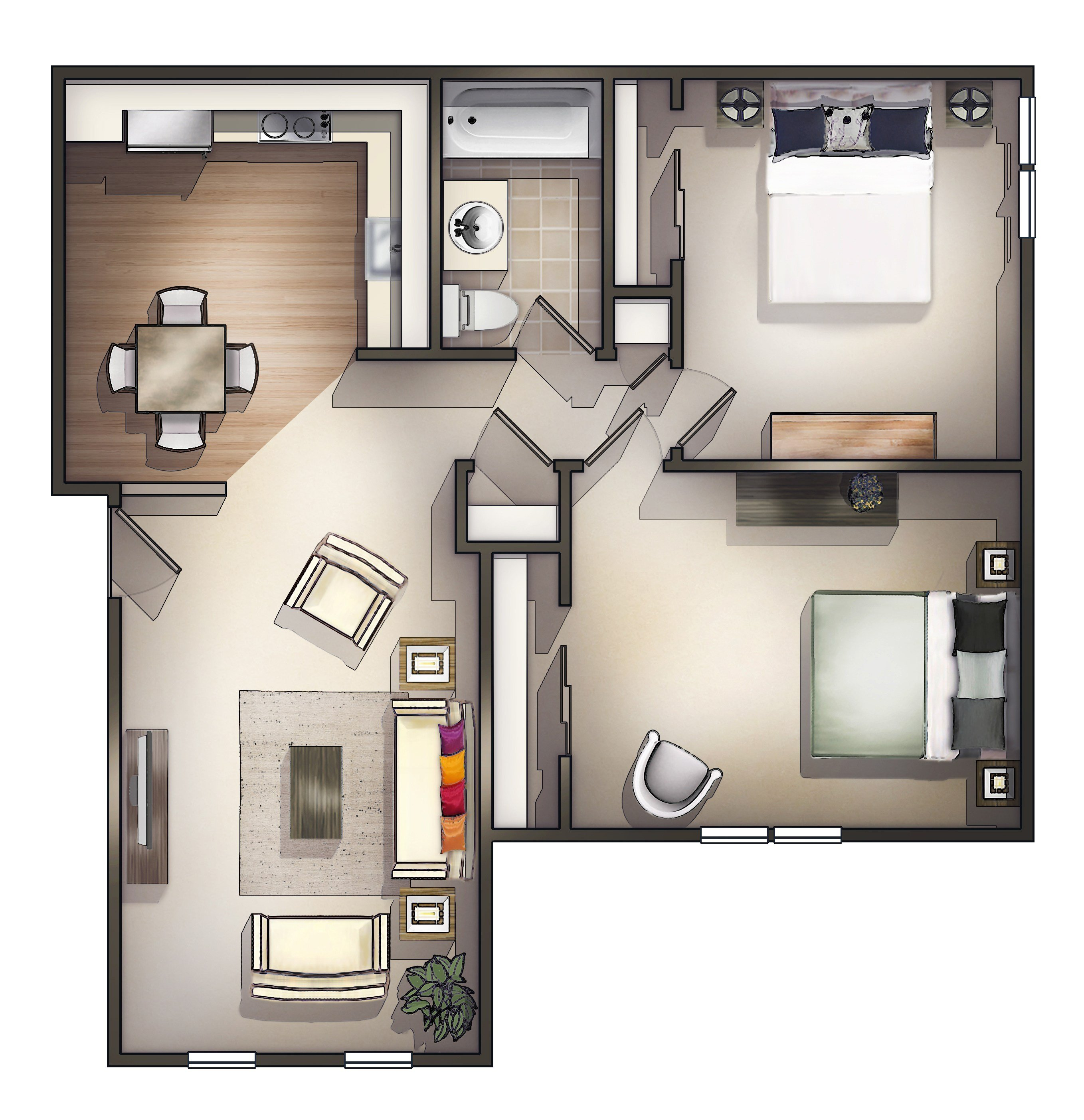 Best How To Decorate Two Room Apartment Theydesign Net With Pictures