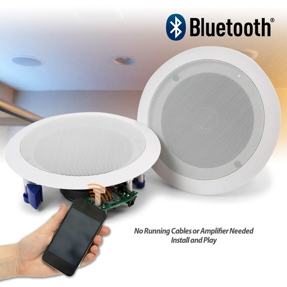 Best Flush Ceiling Speakers 60W Wireless Bluetooth Audio With Pictures