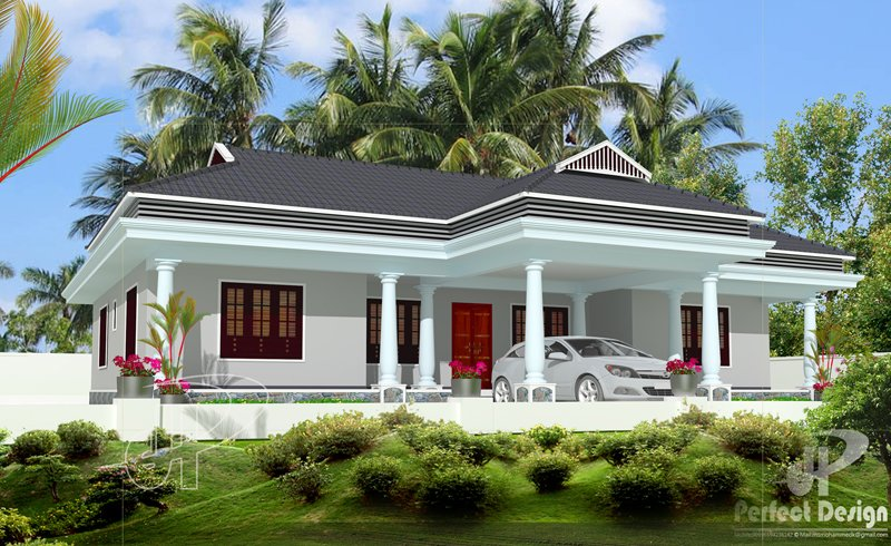 Best Simple And Beautiful Kerala Style 3 Bedroom House In 1153 With Pictures