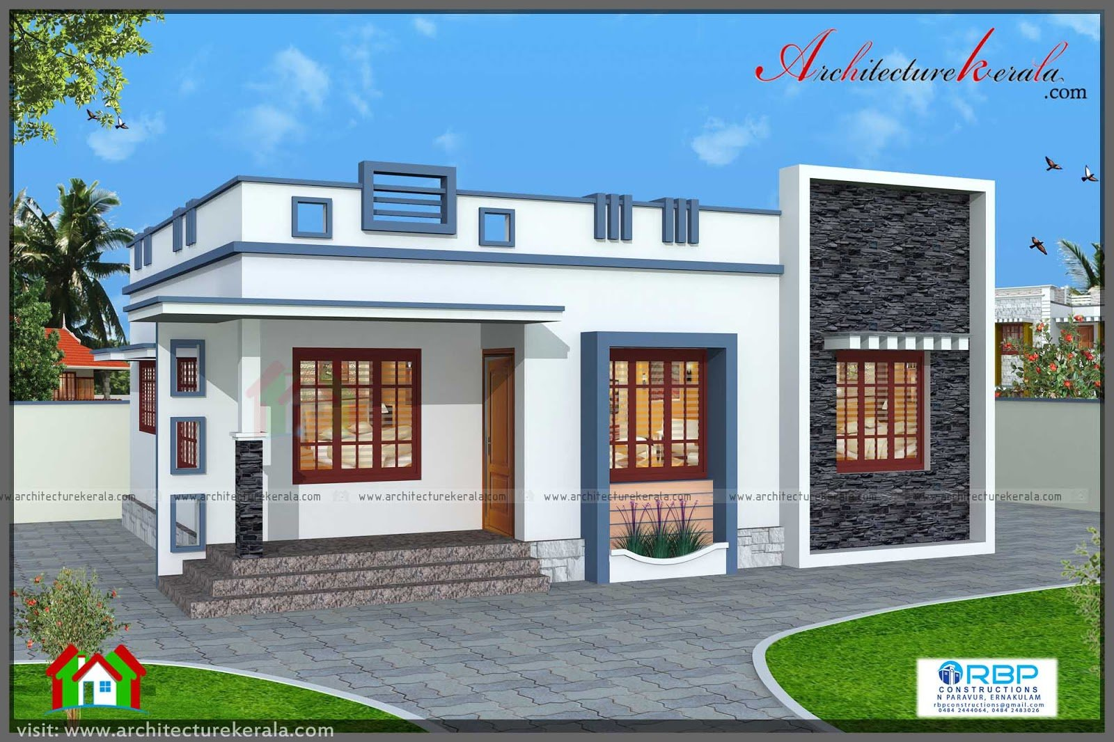 Best 760 Square Feet 3 Bedroom House Plan Architecture Kerala With Pictures