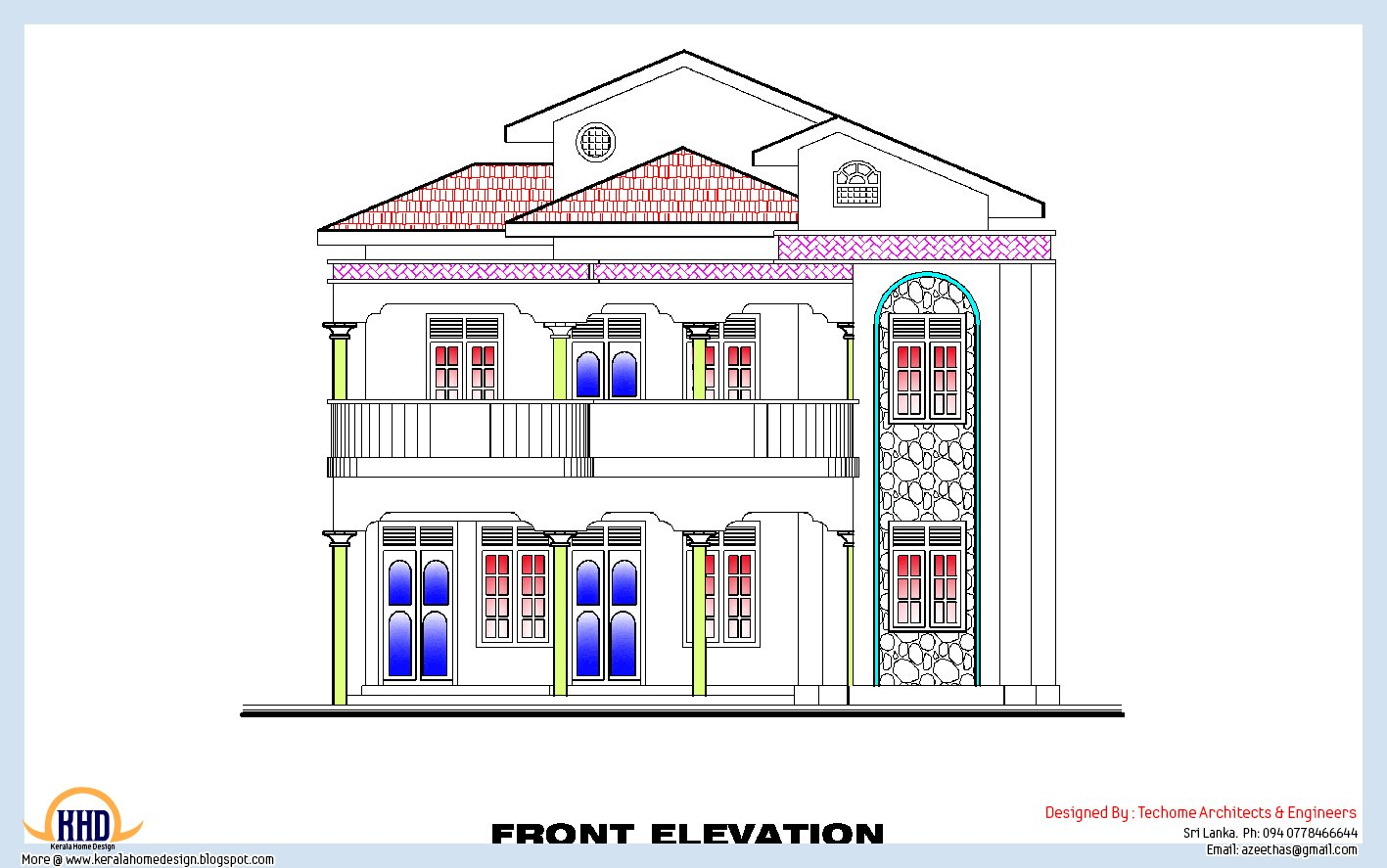 Best 3 Bedroom Home Plan And Elevation House Design Plans With Pictures