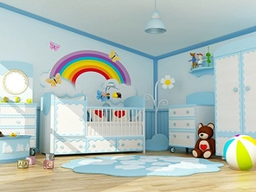 Best Decorating Theme Bedrooms Maries Manor Rainbow Murals With Pictures