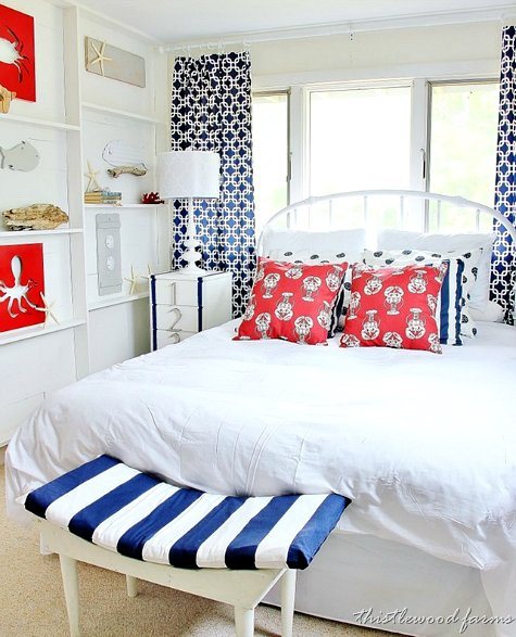 Best Nautical Bedroom With Diy Ledge Shelf Accent Wall With Pictures