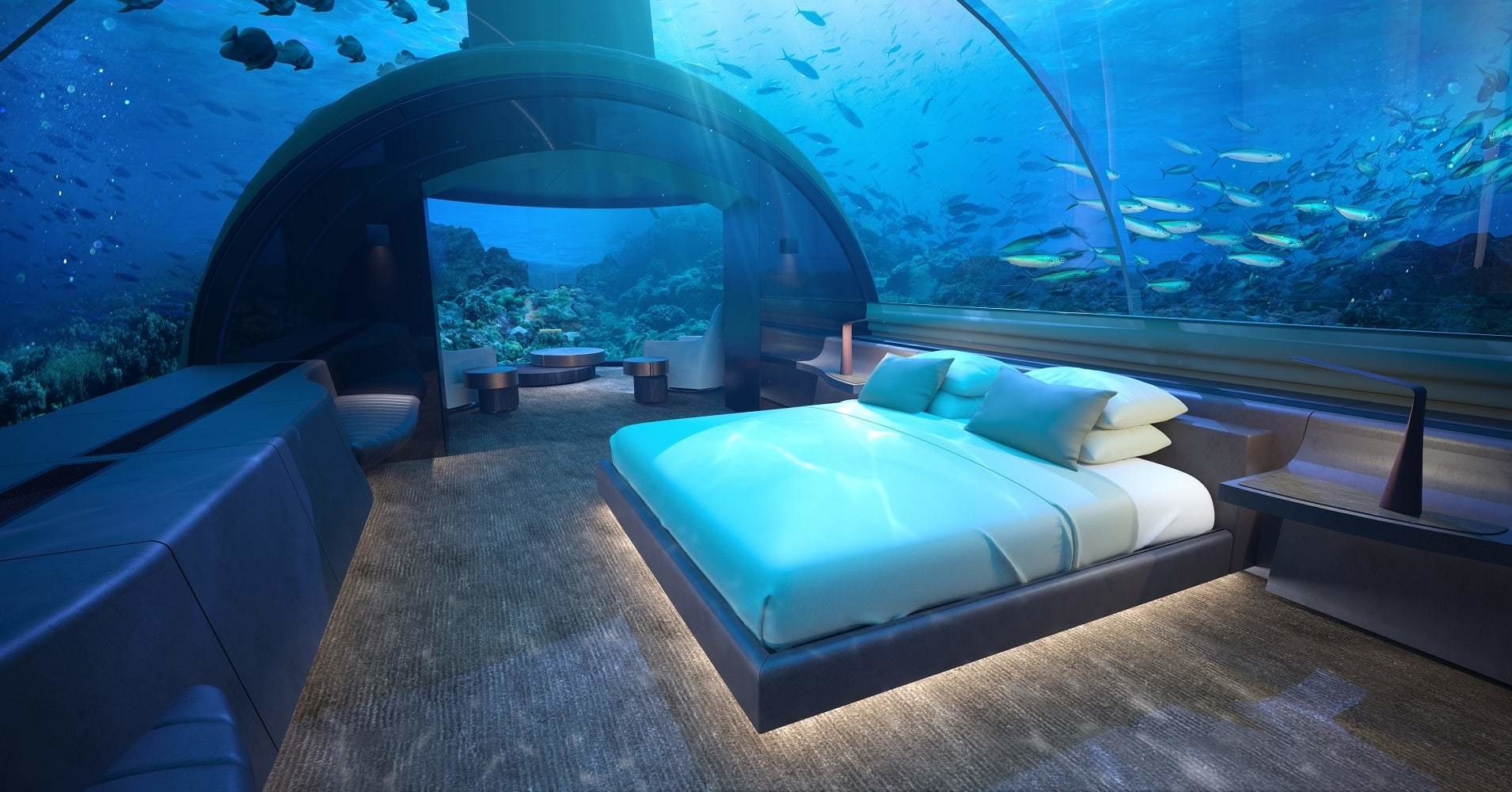 Best Photos World S First Glass Underwater Hotel Suite At With Pictures