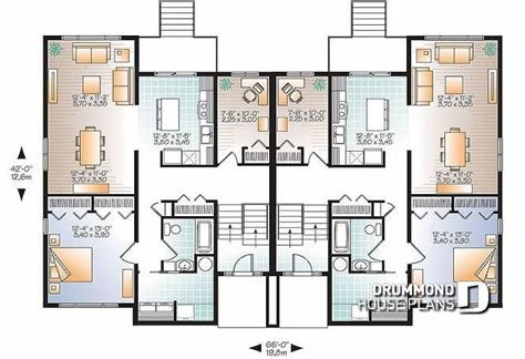 Best Multi Family Plan W3063 Detail From Drummondhouseplans Com With Pictures