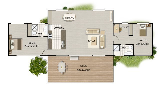 Best Australian House Two Bedroom Study On Timber Floor Plans Home Decor With Pictures