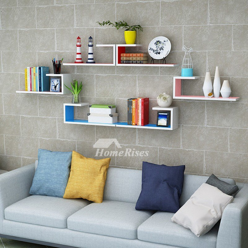 Best Wooden Wall Shelves Rectangular White Hanging Storage Bedroom With Pictures