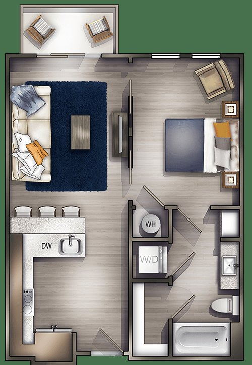 Best One Bedroom Apartments In Nashville Tn Floor Plans With Pictures