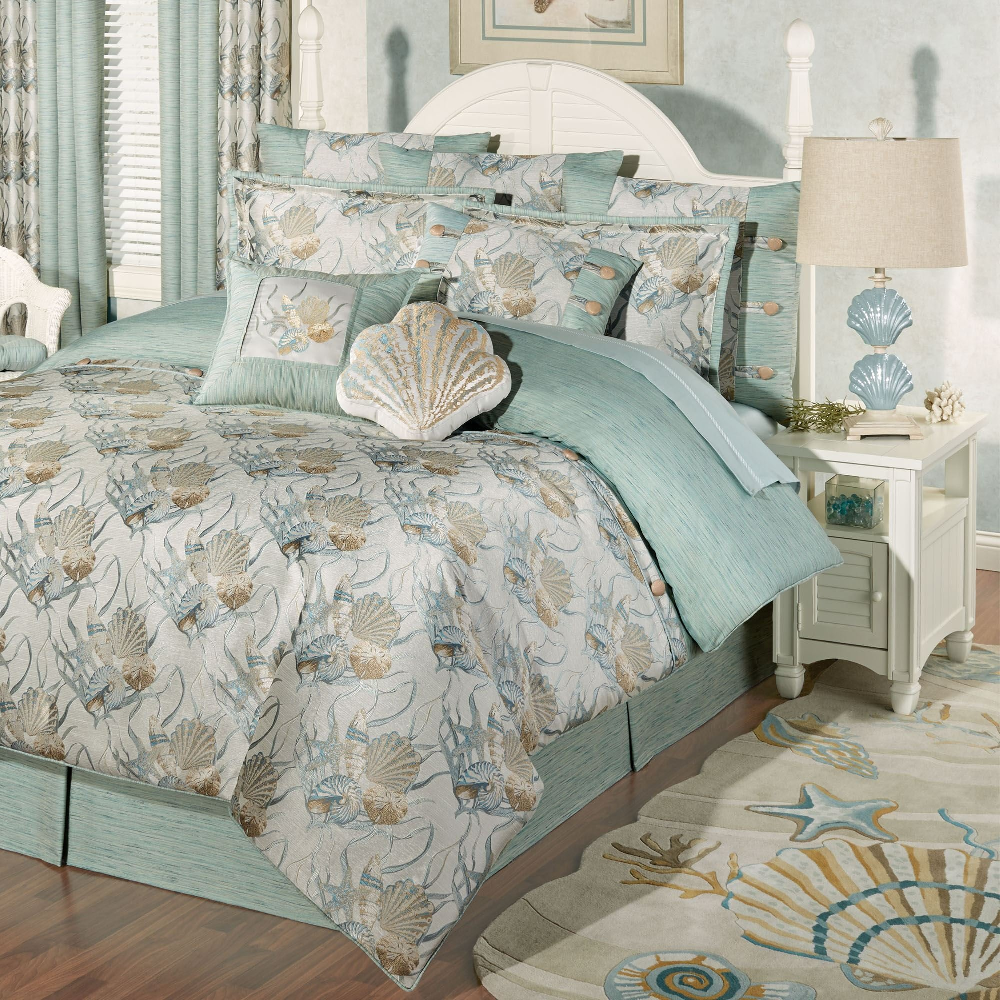 Best Coastal Dream Seashell Comforter Bedding With Pictures