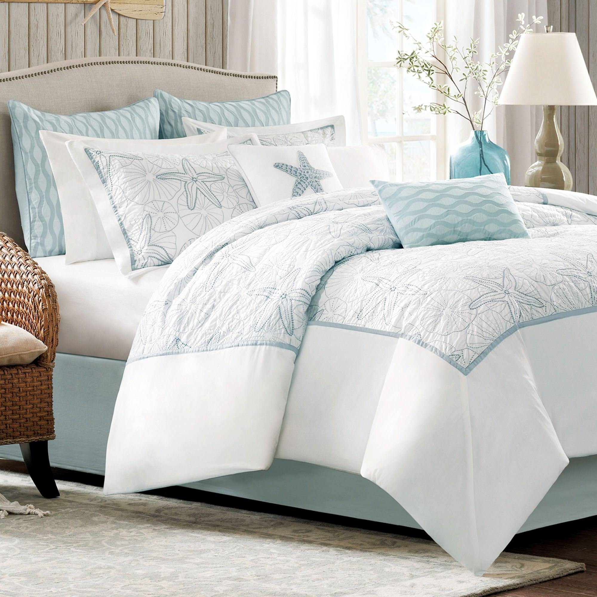 Best Maya Bay Embroidered Coastal Comforter Bedding With Pictures
