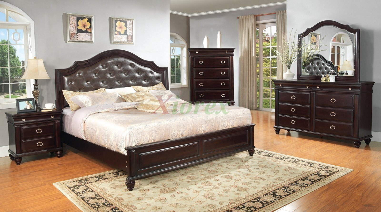 Best Platform Bedroom Furniture Set With Leather Headboard 146 With Pictures