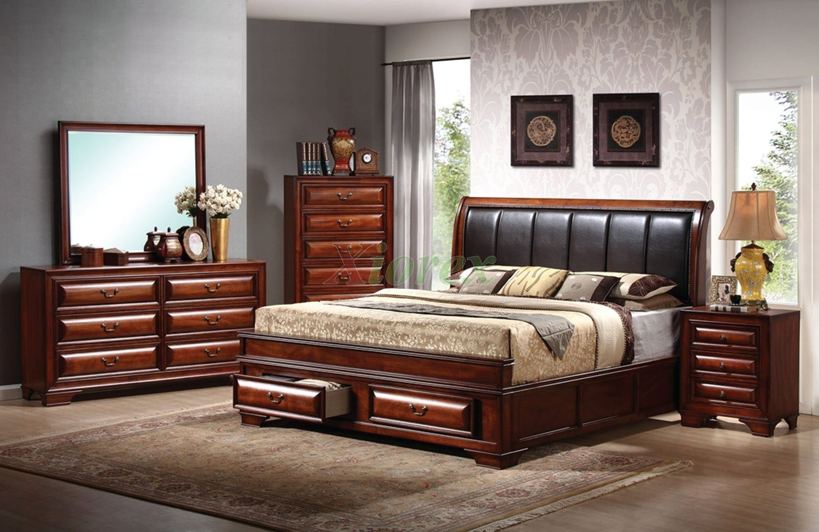 Best Platform Bedroom Furniture Set With Leather Headboard Beds 115 Xiorex With Pictures