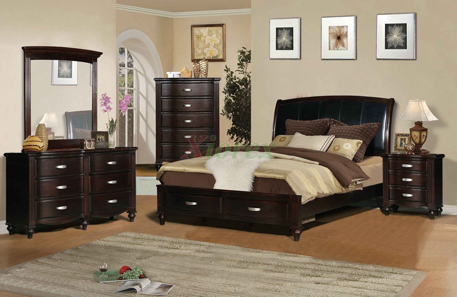 Best Platform Bedroom Furniture Set With Leather Headboard 132 With Pictures