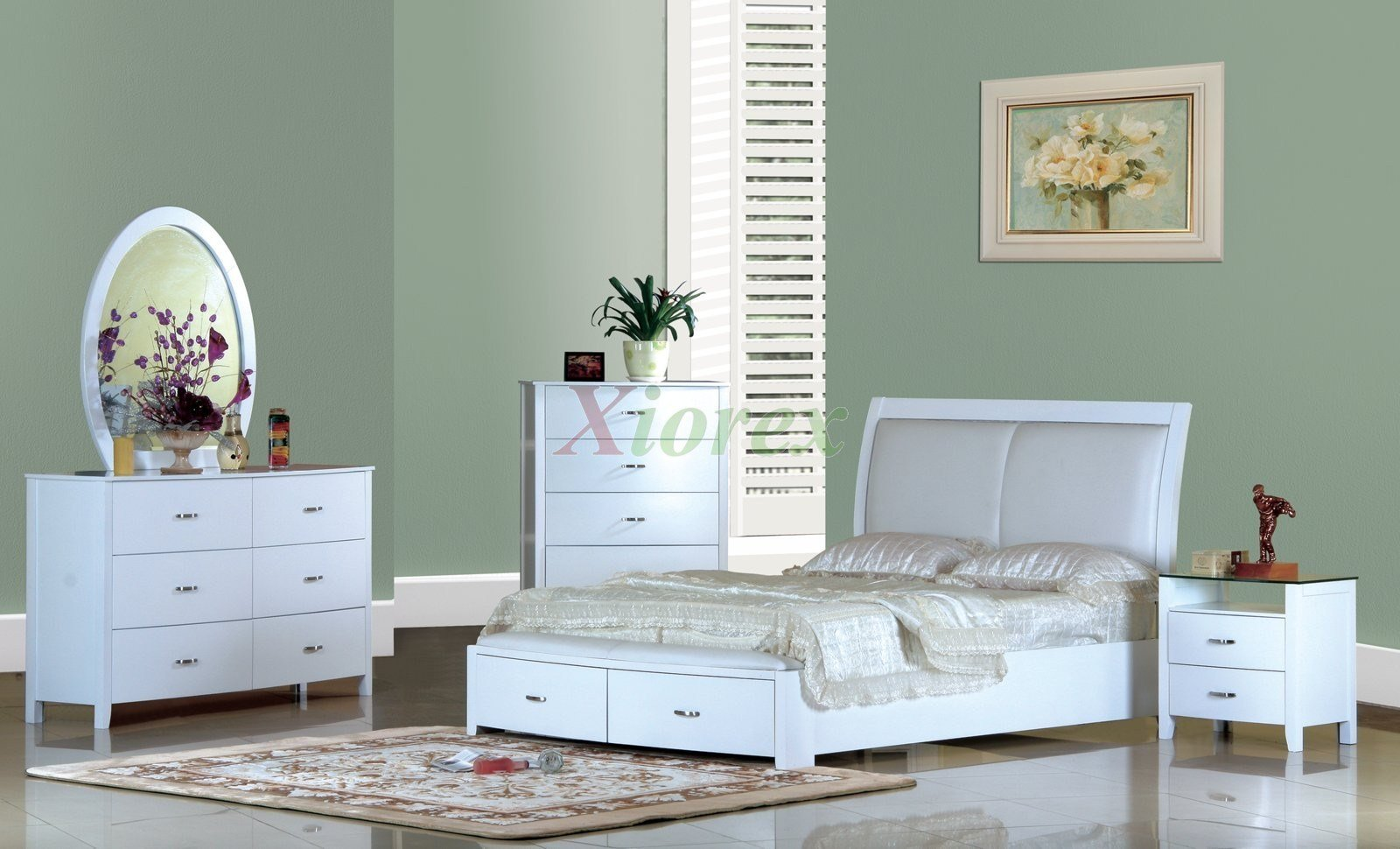 Best White Modern Platform Bedroom Furniture Set 156 Xiorex With Pictures