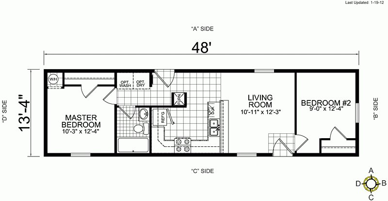 Best 3 Bedroom Single Wide Mobile Home Floor Plans Beautiful With Pictures