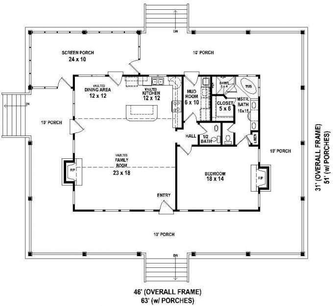Best 2 Bedroom House Plans With Wrap Around Porch Lovely With Pictures
