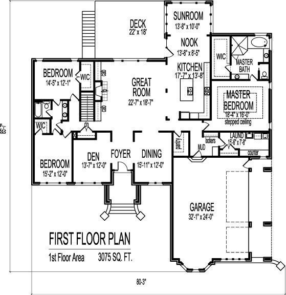 Best 3 Bedroom 2 Bath House Plans With Basement Fresh House With Pictures
