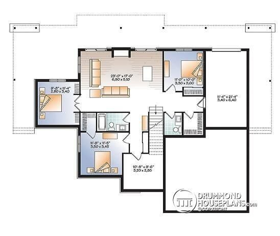 Best Inspirational 4 Bedroom Ranch House Plans With Walkout With Pictures