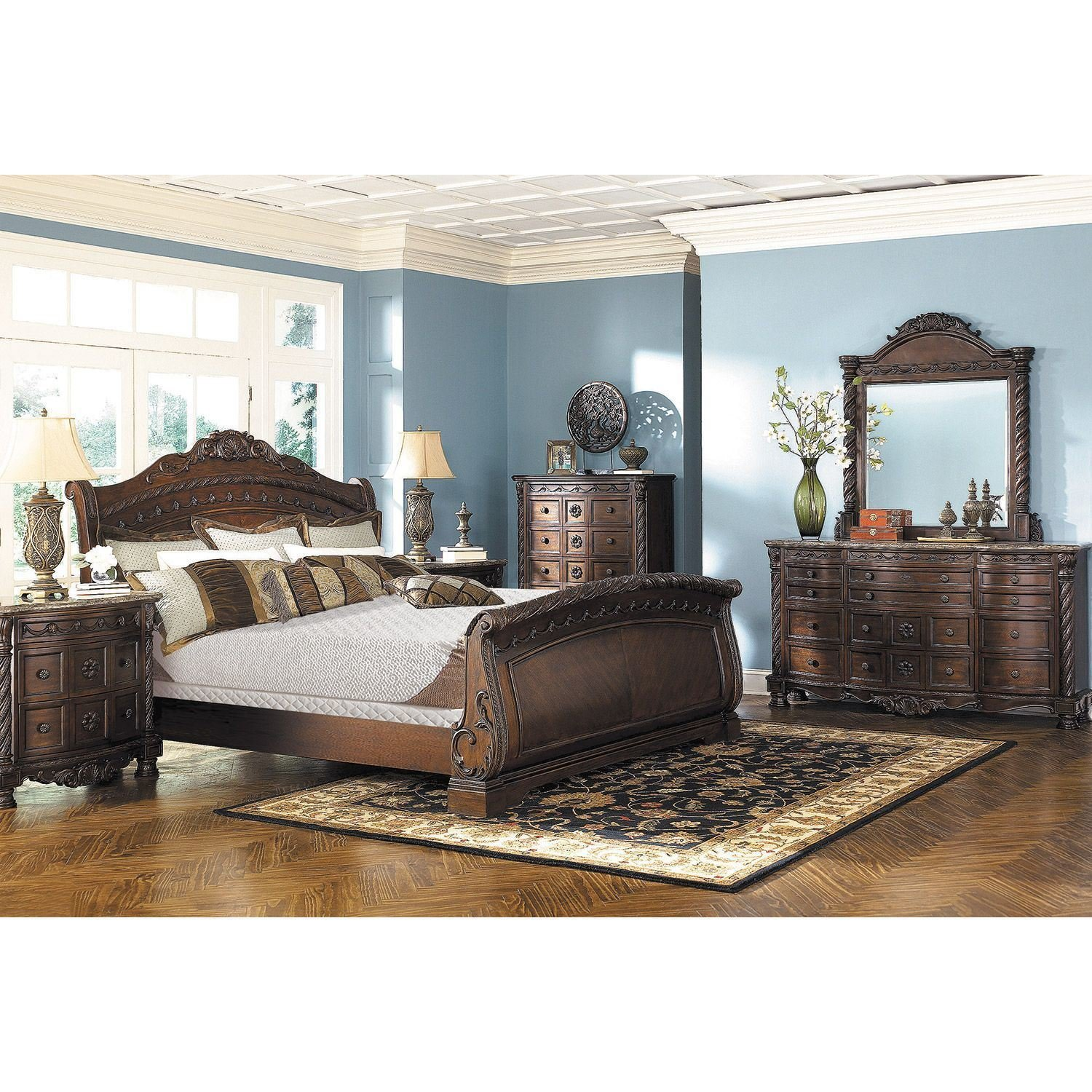 Best North Shore 5 Piece Bedroom Set B553 131 36 46 Kbed 193 With Pictures