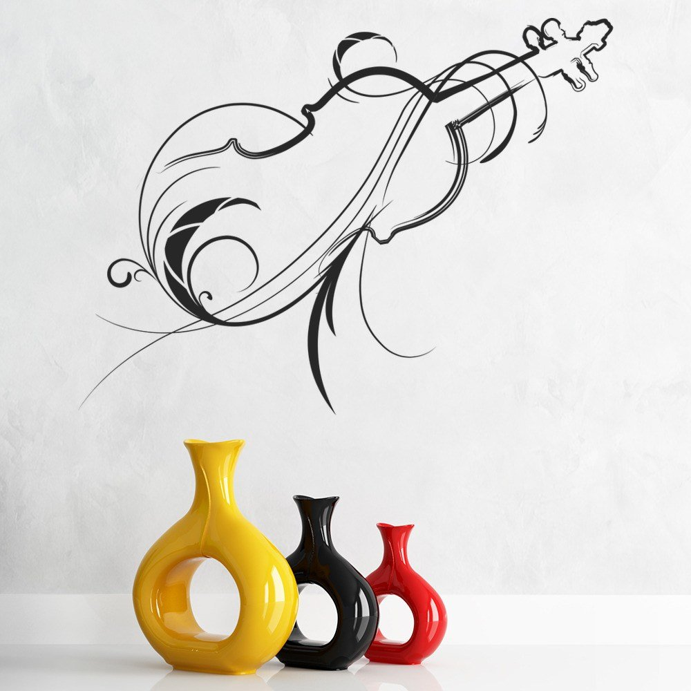 Best Decorative Violin Wall Sticker Musical Instruments Wall With Pictures