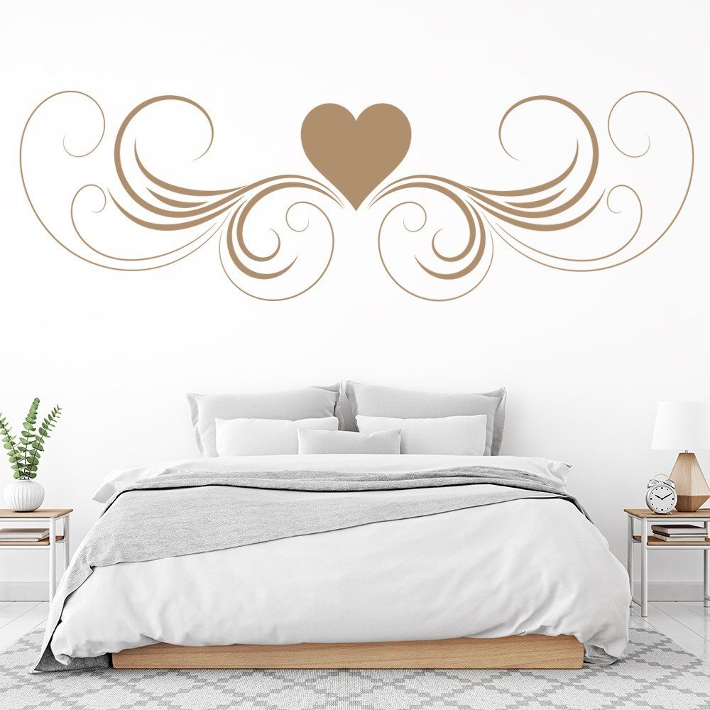 Best Love Heart Wall Sticker Headboard Design Wall Decal Girls Bedroom Home Decor With Pictures