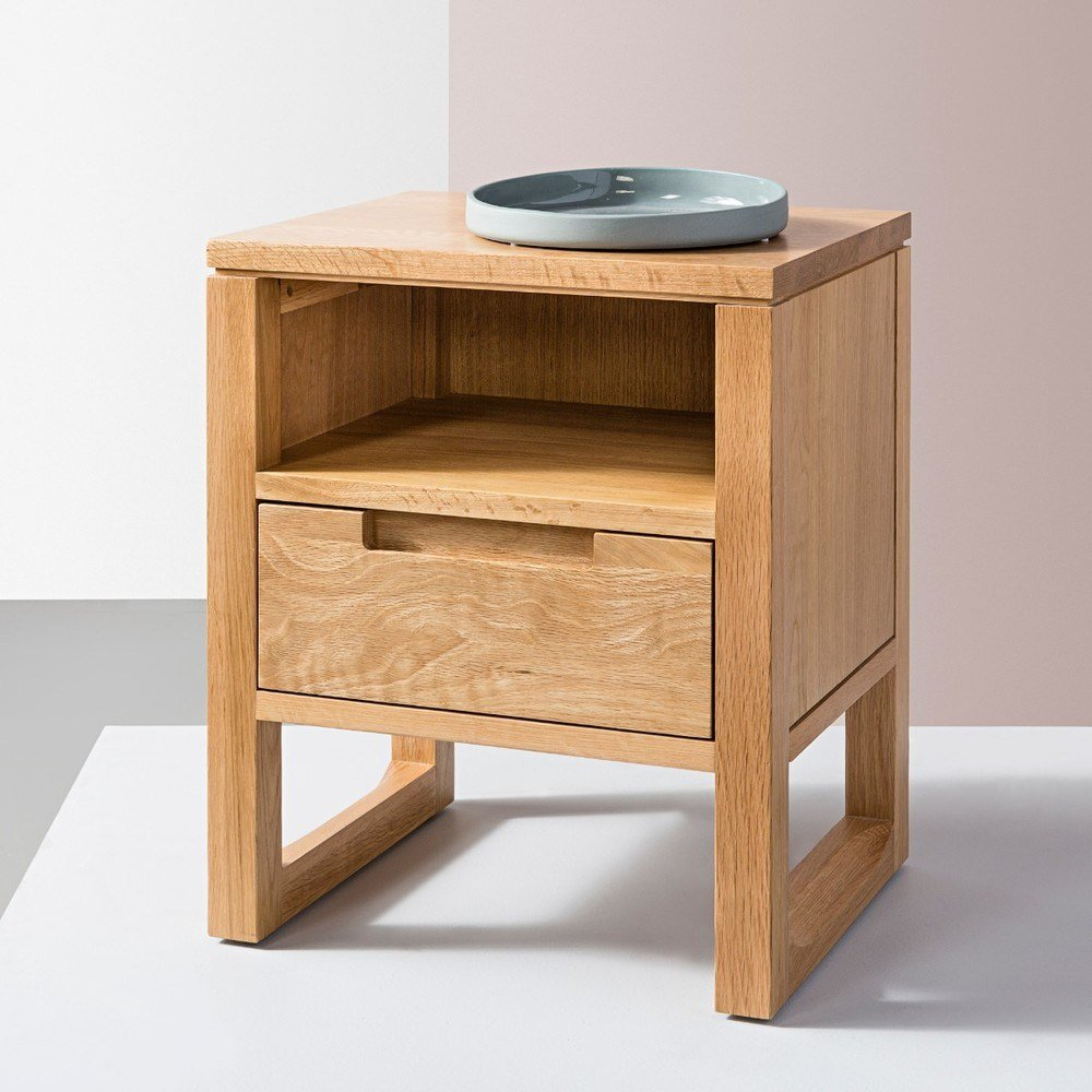 Best Bruno 1 Drawer Bedside Table Solid Oak 42X35X49Cm With Pictures
