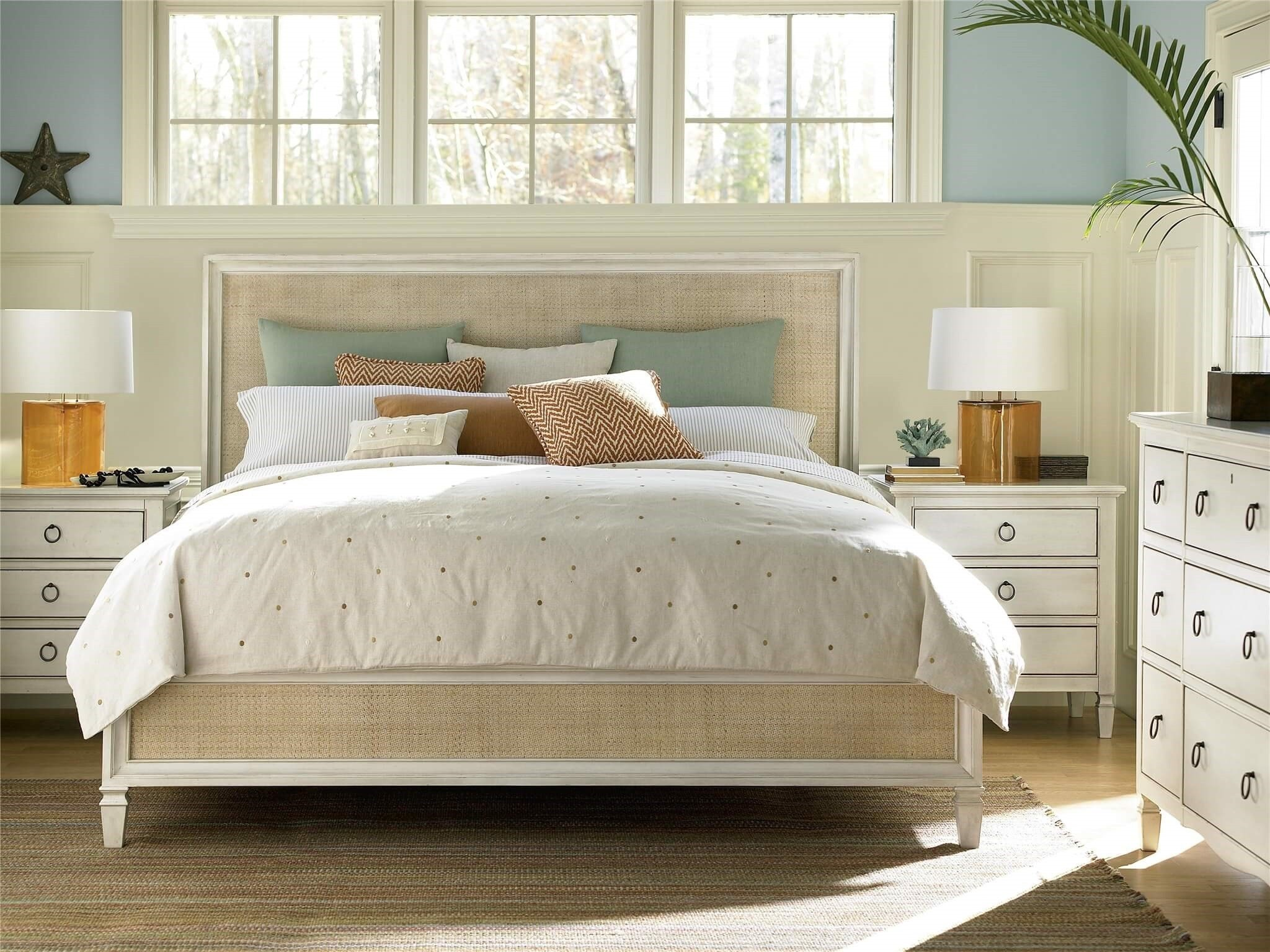 Best 4 Piece Summer Hill Woven Accent Panel Bedroom Set Usa With Pictures