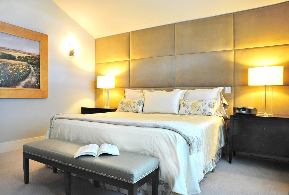 Best Fabric Wall Panels Bedroom Eclectic With Accent Wall With Pictures