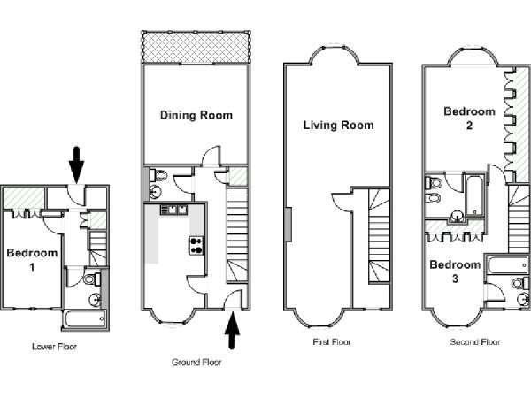 Best London Apartment 3 Bedroom Townhouse Rental In With Pictures