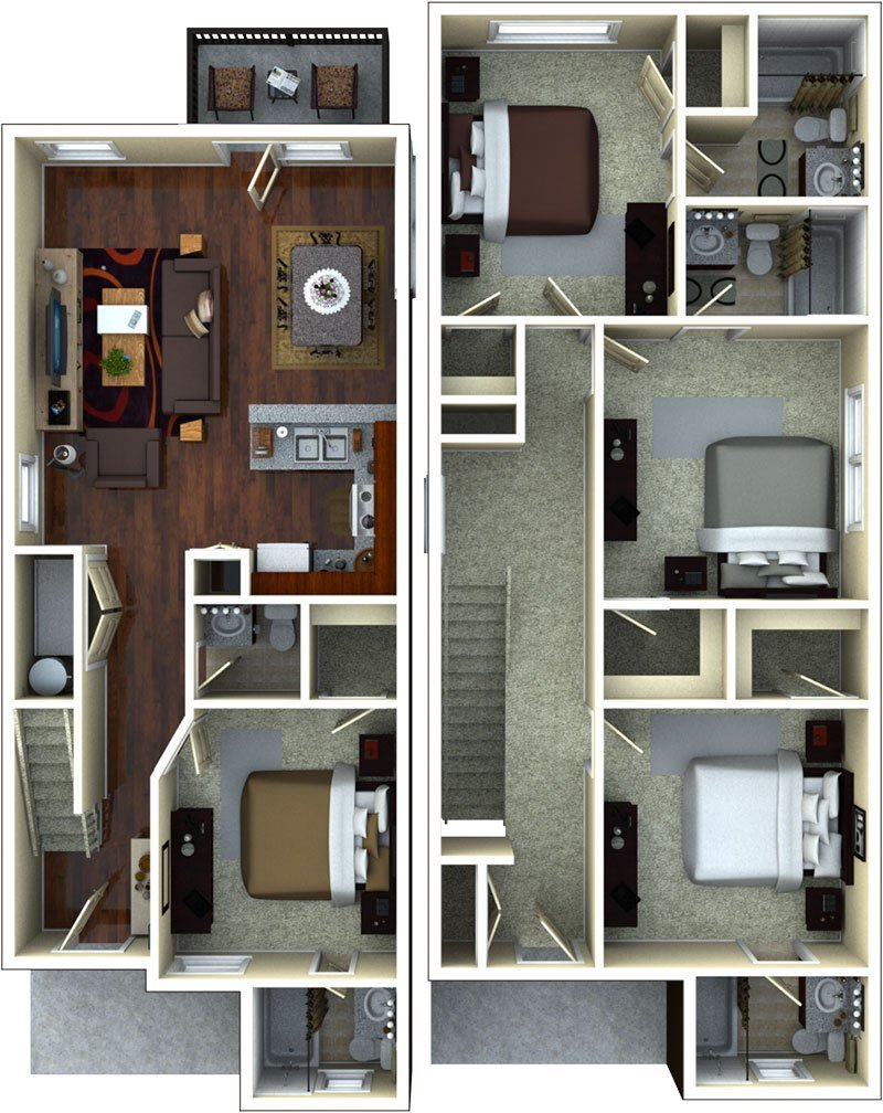 Best Apartment Floor Plans At The Retreat At Gainesville With Pictures