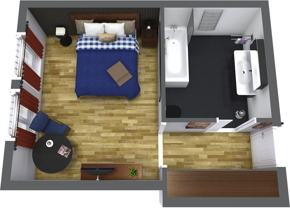Best Hotel Room Layout Roomsketcher With Pictures
