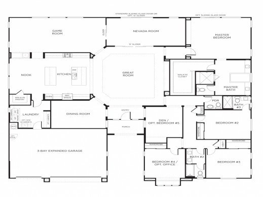 Best Fascinating Five Bedroom Floor Plans House Plans With With Pictures