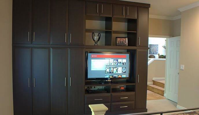 Best Bedroom Media Center And Wardrobe Closet – Smart Closets With Pictures