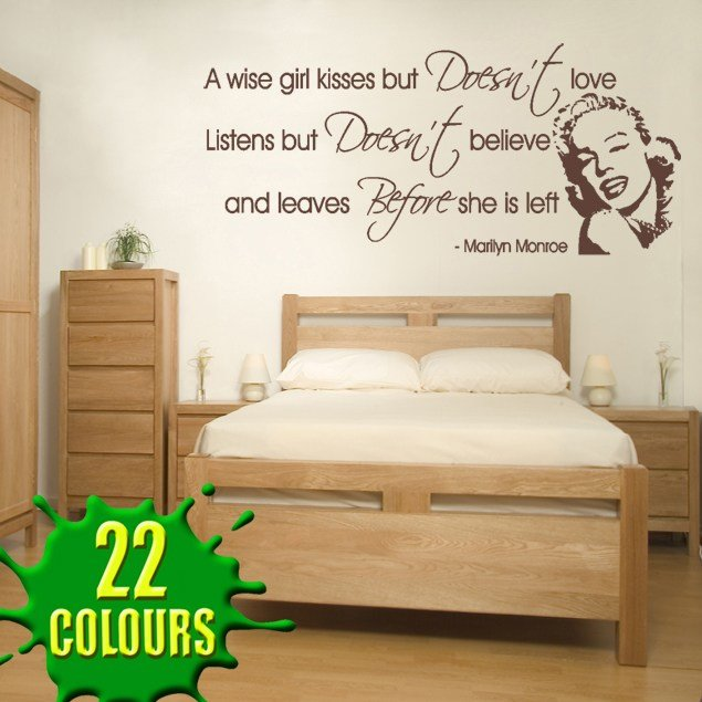 Best A Wise Girl Kisses V2 Wall Decal Sticker Quote Lounge With Pictures