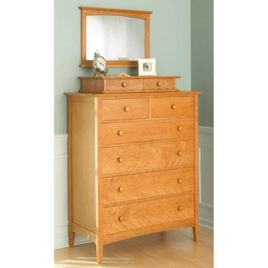 Best Pencil Post Shaker Style Dresser With Valet And Mirror With Pictures