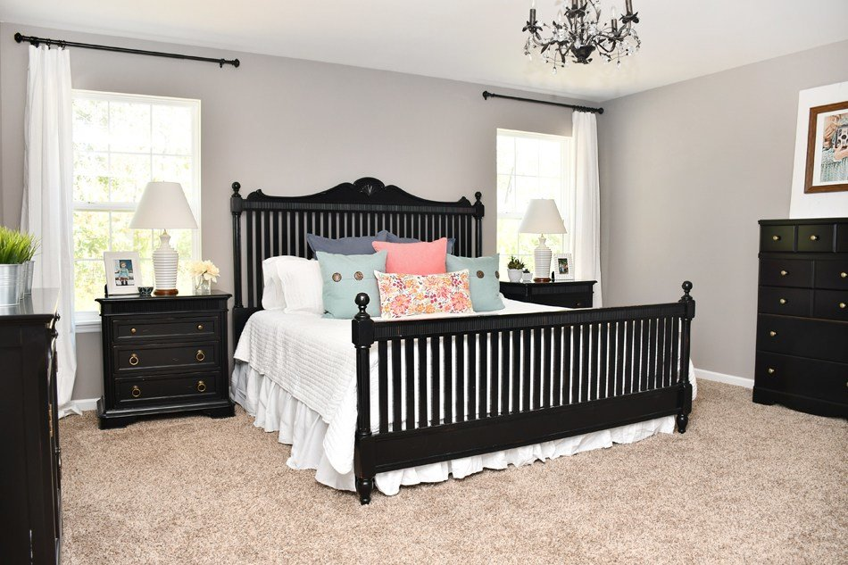 Best Budget Master Bedroom Makeover With Black Furniture With Pictures