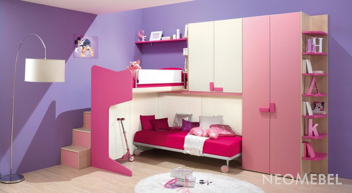 Best Decorating Bedroom Paint Pink Purple Color Theme Girl Bedroom Ideas Design With Purple Wall With Pictures