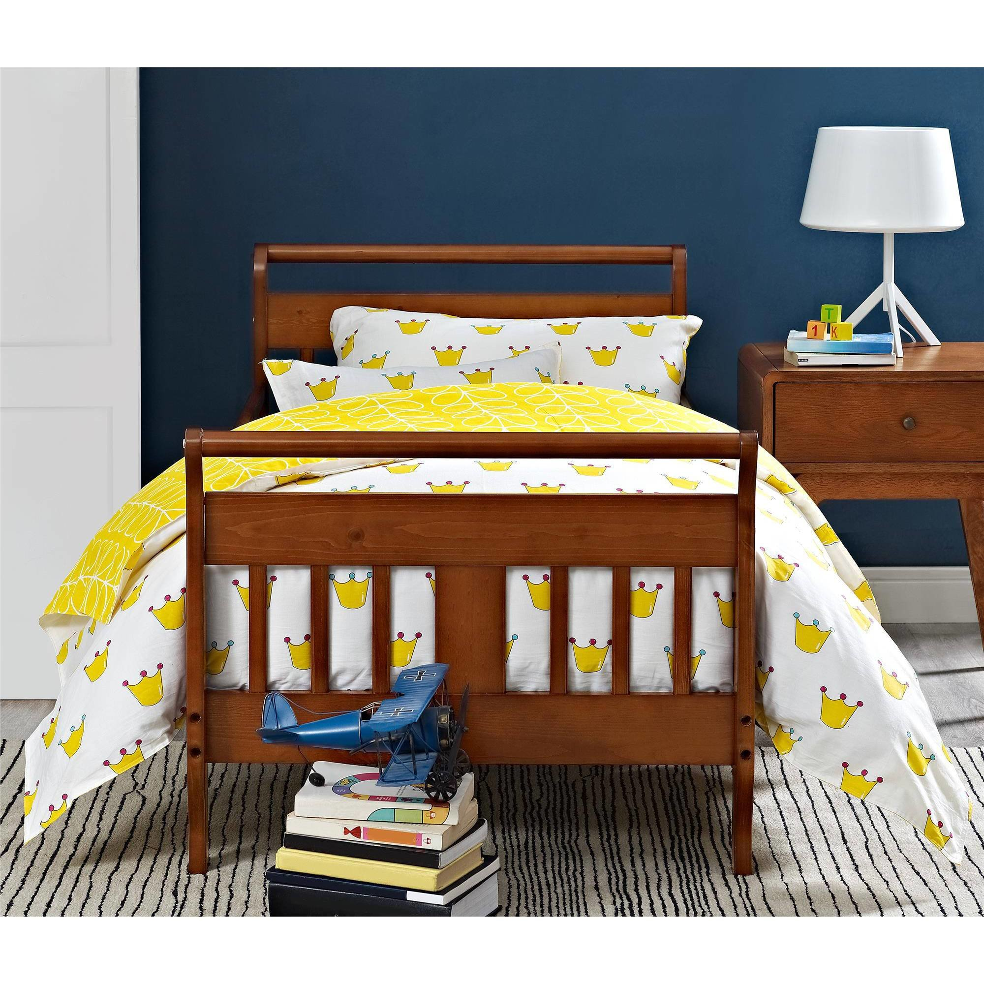 Best Baby Relax Sleigh Toddler Bed White Brown Natural Kids With Pictures